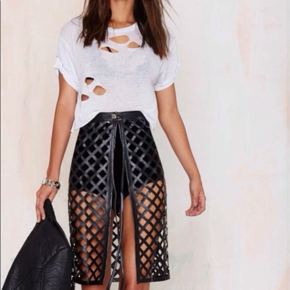 Missguided Dresses & Skirts - Black Caged Midi Skirt